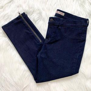 J Brand Zippered Ankle Crop Dark Wash Jeans